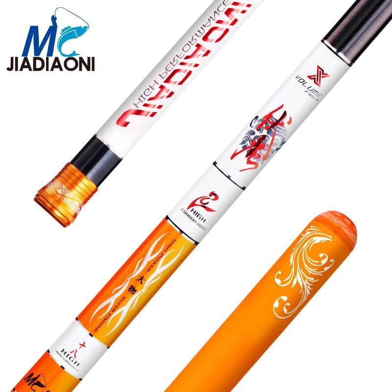 JIADIAONI 28 Tonale 4.5 m/5.4 m/6.3 m/7.2 m Fibers Carbom Taiwan Canne À Pêche Télescopique mouche Pêche à La Carpe Pôle De Pêche