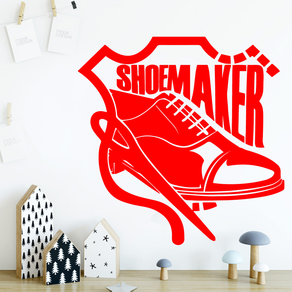 Fashionable Shoes Wall Stickers Self Adhesive Art Wallpaper For Baby Kids Rooms Decor Bedroom Nursery Decoration