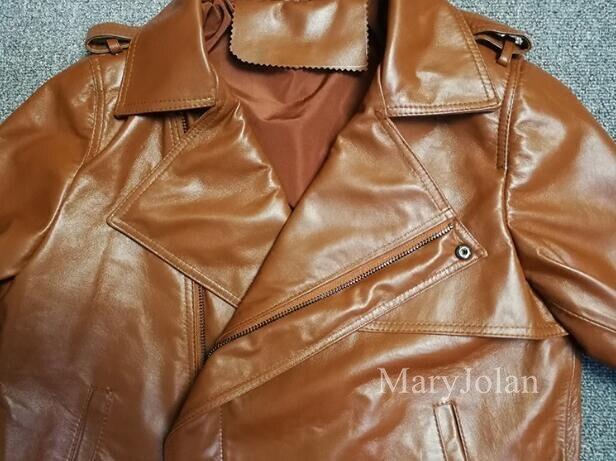 Outwear Mode Mince Femme En Véritable Partie Veste Club Maryjolan Brun Peau De Mouton Manteau Cuir Ol Élégante 6wXqHH4g