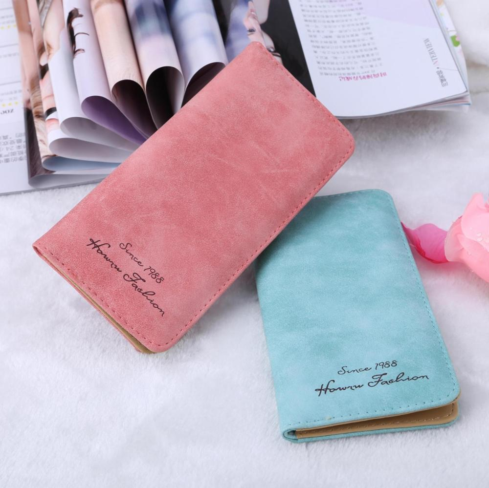Women Wallets Brand Design High Quality Nubuck Leather Wallet Female Fashion Dollar Price Letter Long Women Wallets And Purses