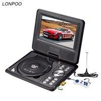 LONPOO Nieuwste 7 inch Draagbare Dvd-speler met TFT Scherm ondersteuning TV VCD CD MP3/4 USB GAME Mobiele TV dvd-speler