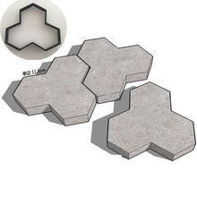 Тротуарная пресс-форма DIY Пластиковая форма для изготовления дорожек ручная тротуарная плитка цемент кирпичные формы камень дорога бетонные формы инструмент для сада