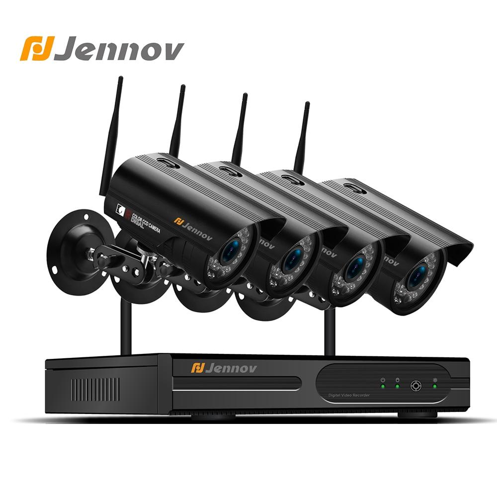 Jennov HDMI 2MP 4CH Security Camera System CCTV Kit Wireless NVR 1080P Video Surveillance Camera WIFI Outdoor IP Camera P2P 4ch 1080p lcd monitor wireless ip camera wifi nvr kit cctv camera system outdoor security camera p2p video surveillance system