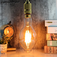 BT118 big size Dimming edison bulb led 220V 6W light amber retro saving lamp vintage filament Edison ampul light chandelier