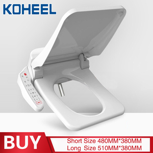 Image 5 - KOHEEL square intelligent toilet seat cover electronic bidet toilet bowls seat heating clean dry smart toilet lid for bathroom