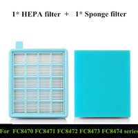 1 Piece Replacement HEPA Filter FC8470 Air Outlet Filter For FC8471 8472 8473 8474 8475 Vacuum