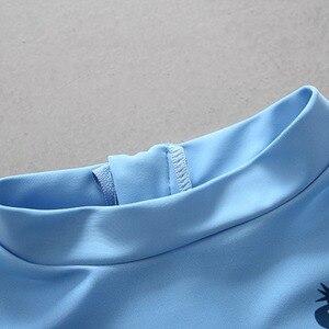 Image 3 - UPF50 + 수영복 어린이 투피스 별도의 수영복 상어 블루 수영복 러쉬 가드 수영복 아이