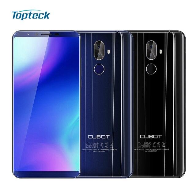 CUBOT X18 Plus 4G мобильный телефон 5,99 дюймов FHD + 18:9 MT6750T Octa-core 4 Гб + 64 Гб задняя камера 20MP + 2.0MP отпечаток пальца смартфон