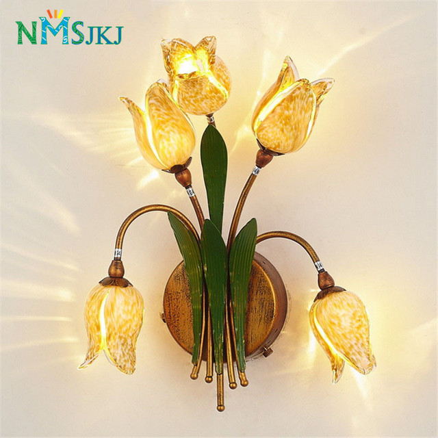 Art decor flower wall sconces lamp lighting for bedroom home decor art decor flower wall sconces lamp lighting for bedroom home decor kitchen cafe bedside lamp night mightylinksfo