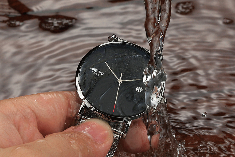 NIBOSI watch men black quartz wristwatches stainless steel mesh brand  watches men ultra thin quartz relogio masculino dourado (4)
