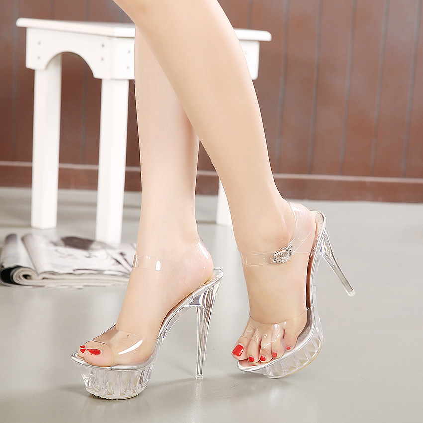 Zapatos Abierta Cm Stiletto Tacón Alto Mujer Cristal Plataforma Fl1TKJc3