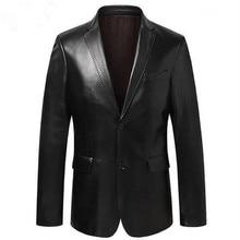 גברים חליפת מעיל עור כבש הלבשה עליונה דק גברים של אמיתי חליפת עור אמיתי כבש בלייזר שחור כחול יין אדום S14CZF1401