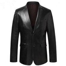 Hommes costume veste en peau de mouton vestes mince vêtements dextérieur hommes en cuir véritable costume en peau de mouton véritable blazer noir bleu vin rouge S14CZF1401