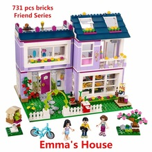 цена на New Friends Series Emma's House Building Blocks Model Bricks Toys Compatible with Lego 41095 Educational toy Best Gift For Girls