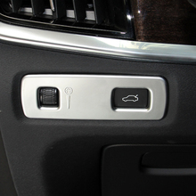 Car Styling ABS Matte Interior Headlight Lamp Adjustment Cover Trim For VOLVO S90 V90 2017 2018 2019