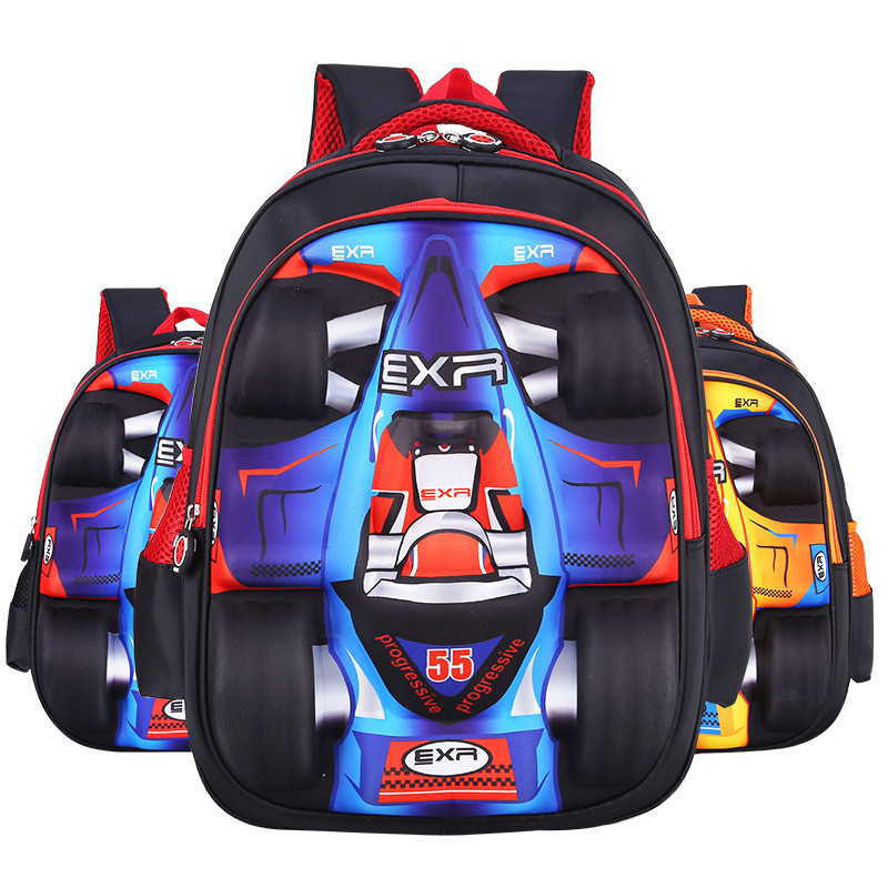 9d83b7c1e3b0 3D Cartoon Big Capacity Russia Style Orthopedic School bags For Boys Car  Styling Waterproof Backpack Kids Children School bag-in School Bags from  Luggage ...