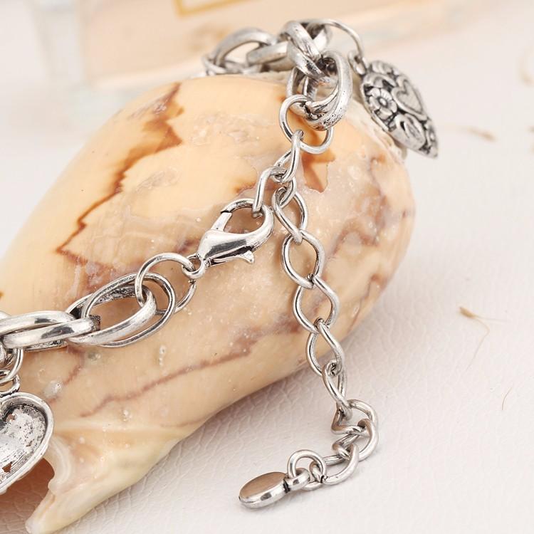 IF YOU Vintage Silver Color Elephant Charm Bracelet For Men Bohemian Statement Bracelets Bangles pulseira Feminina Jewelry Gift 9