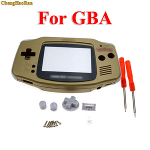 Image 1 - ChengHaoRan 1set Gold Golden shell case housing for gameboy advance GBA with pika chu poke mon protector screen lens