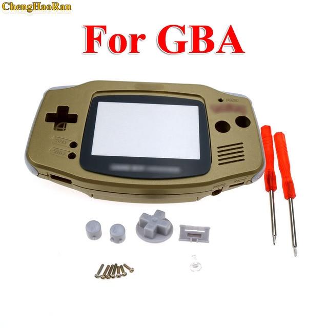 ChengHaoRan 1set Gold Golden shell case housing for gameboy advance GBA with pika chu poke mon protector screen lens
