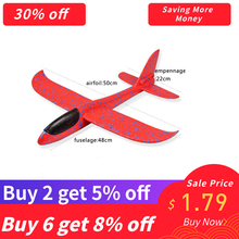 SAILEROAD Foam Aeroplane DIY Kids Toys Hand Throw Flying Glider Planes Model Party Bag Fillers Plane for Game