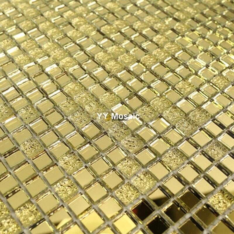 US $179.99 |10mm Gold Spiegel Glas Mosaik Fliesen für Wein Schrank Dekor  Schwimmbad Bad Tor Rahmen Halle Wand sticker Outdoor fliesen-in ...
