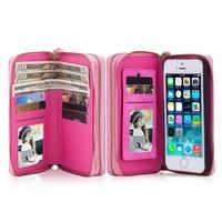 Pockette Para iPhone 5 5S SE Caso de couro Moda Carteira de Proteção Poch telefone Para o iphone 5 SE Multi-função Saco Do Telefone do Cartão de IDENTIFICAÇÃO