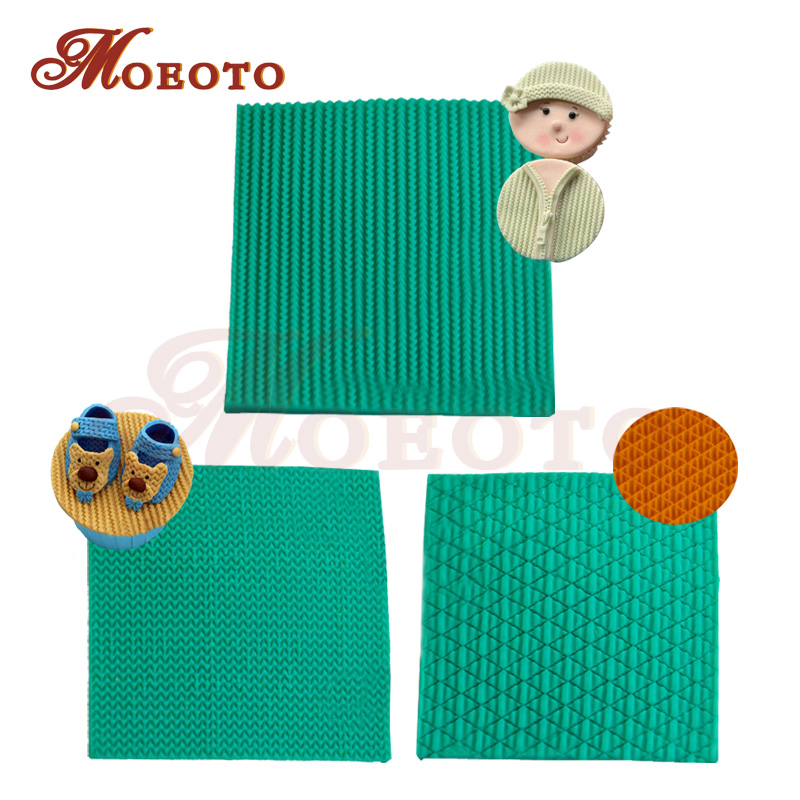 Knitting Texture Mat : Newest knitted sweater textured fondant mats knit vein