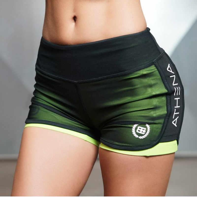 Kobiety Sport Fitness joga spodenki sportowe szorty fajne damskie spodenki sportowe do biegania krótki odzież Fitness Jogging joga dokręcić spodenki
