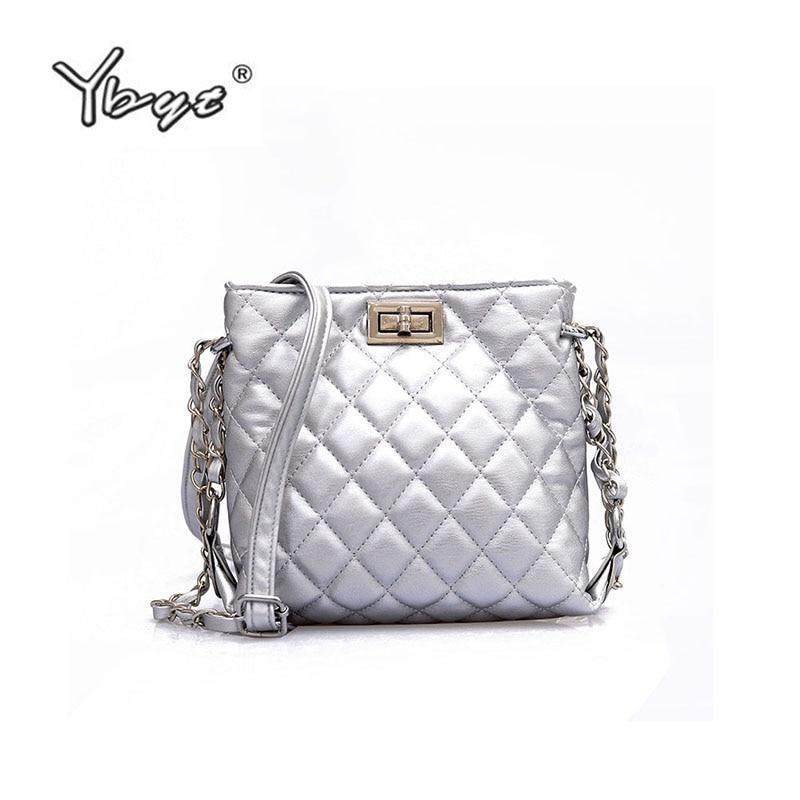 YBYT Brand 2018 New Mini Diamond Lattice Bucket Bag Joker Handbag Shoulder Small Bag Women Shoulder Packbags Crossbody Bags