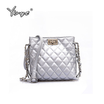 YBYT brand 2018 new mini diamond lattice bucket bag joker handbag shoulder small women packbags crossbody bags