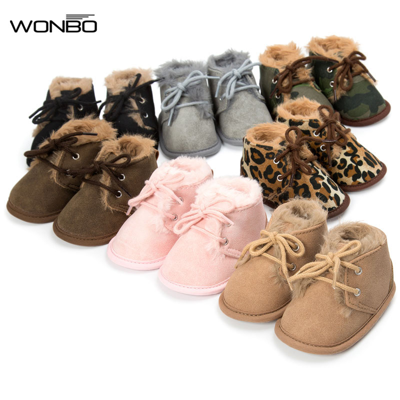 7 colors winter cotton fabric with fur super warm baby moccasins shoes lace up baby girls boys boots first walkers soft sole toddler baby shoes infansoft sole shoes girl boys footwear t cotton fabric first walkers s01 page 1