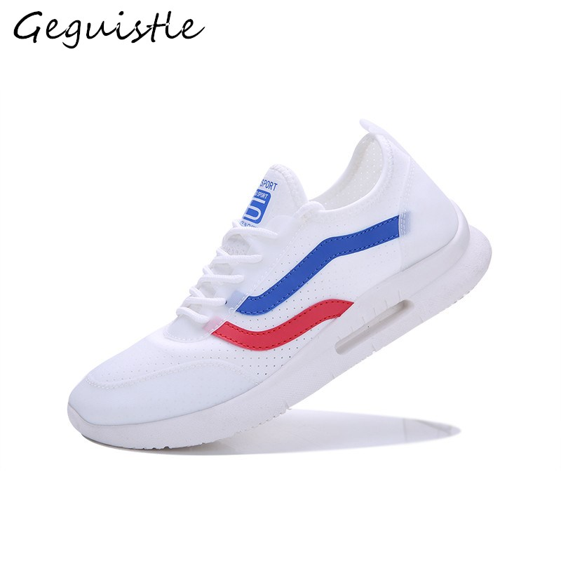 Trendy Comfortable Men Shoes Breathable Casual Shoes Fashion Lace-Up Light Lycra Sneakers