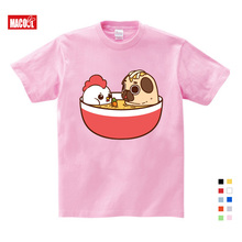 Kids Girls Baby Clothes for Summer Dog Bubble Bath Printing T Shirt Boys Summer Clothes Short Pink Cotton T-shirts 3-15 Years стоимость