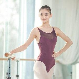 Image 4 - Leotardos de Ballet de tirantes de malla para mujer, uniformes de Ballet para adultos, Mono para gimnasia con tirantes cruzados en la espalda, para verano, 2019