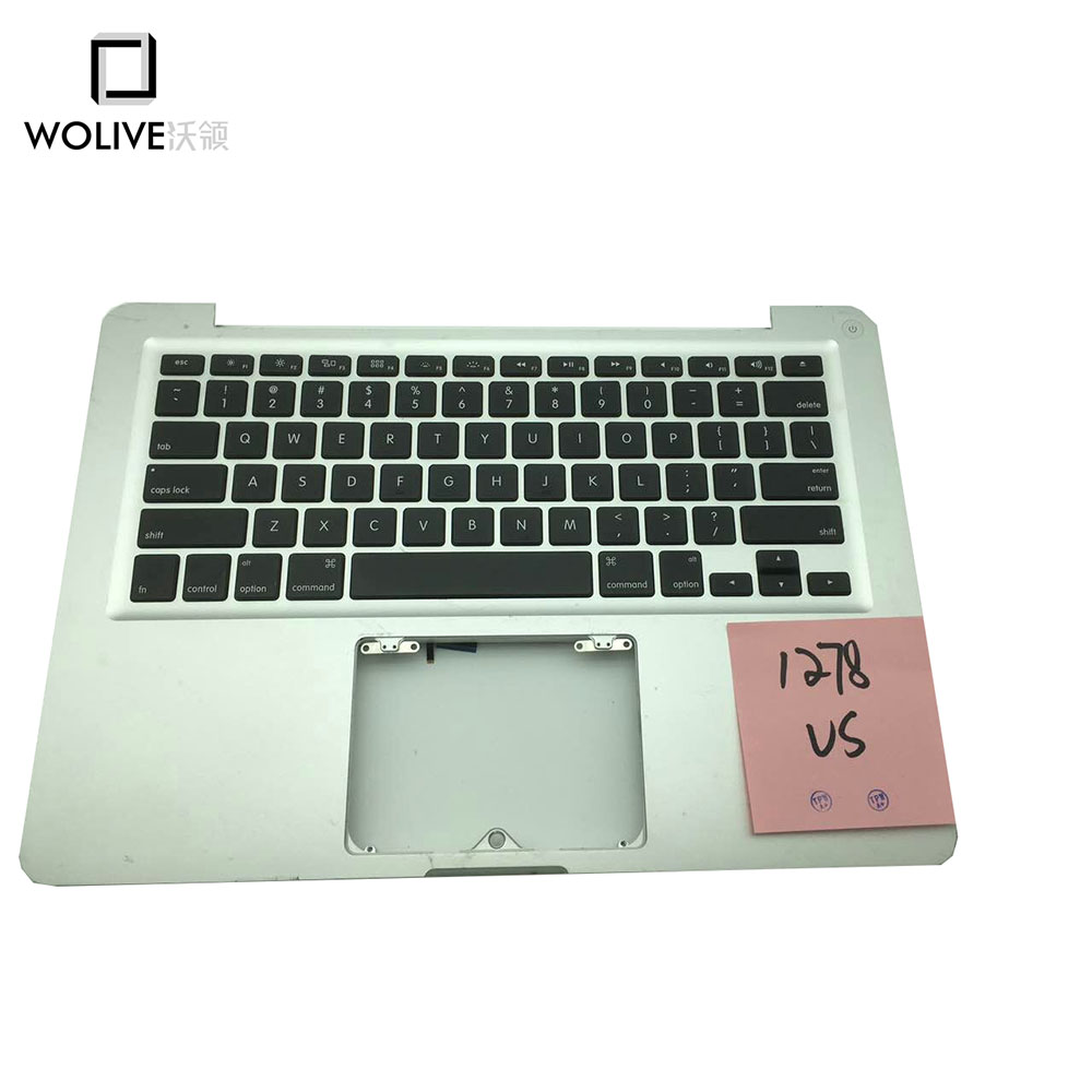 Original New Laptop Palmrest For Macbook Pro 13 A1278 2012 Topcase with US Keyboard original new topcase 11 6 for macbook air a1370 a1465 palmrest top case with us keyboard backlight no touchpad 2013 2015