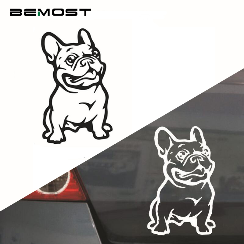 BEMOST 5pcs/lot Lovely Pet Dog French Bulldog Car Stickers Auto Styling Cartoon Decal Car Accessories Free Shipping 8*14cm