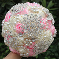 Best Sellers Hand Hold In Both Hands Bride Hand Bridal Bouquet Pearl Luxurious Hand Bridal Bouquet 18 Centimeter WB066