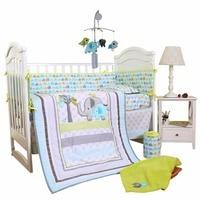 home textiles baby bedding set comforter crib sheet crib shkirt crib bumper