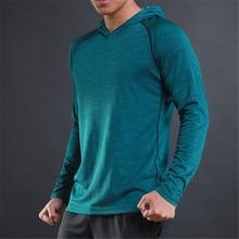 WOSAWE Весна кроссовки футболки быстросохнущая Для мужчин с капюшоном воротник Топы и мужские Футболки Длинный рукав тонкий мужской толстовка тренировочная рубашка