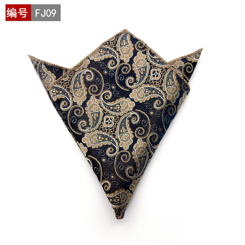 Polka Dots Striped Handkerchief Wedding Polyester Printed Hanky Men's Fashion Business Pocket Square Towel 25*25CM