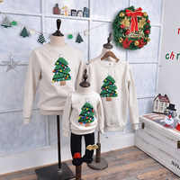 Christmas Sweater Shirt Family Clothes Reindeer Tree Deer New Year Matching Outfits Father Mother Son Daughter Mom Me Kid Winter