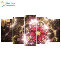 Zhui Star 5d Diy Diamond Embroidery Golden Flower Diamond Painting Cross Stitch Full Square Drill Rhinestone