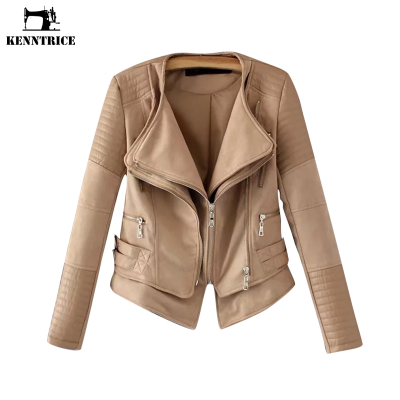 Kenntrice Spring High Quality Suede Hippie Brown Jackets Vintage Women Clothes 2018 Casual Lady Coat