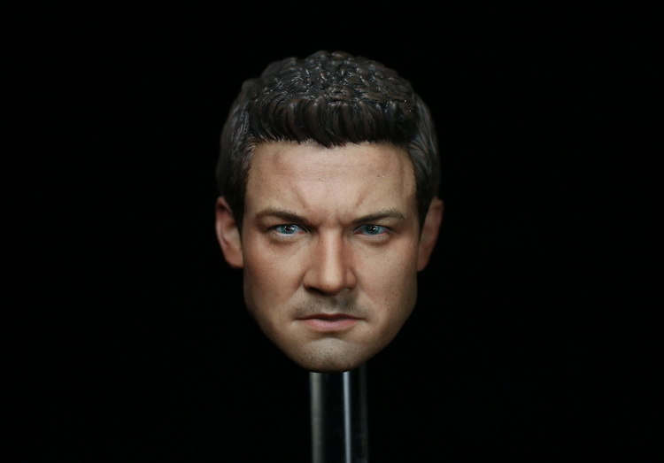 1/6 scale figure doll head shape for 12 action figure doll accessories Avengers:Age of Ultron HAWKEYE Jeremy Renner Head carved brand new 1 6 scale avengers age of ultron hawkeye clint barton jeremy renner head sculpt for 12 action figure model toy