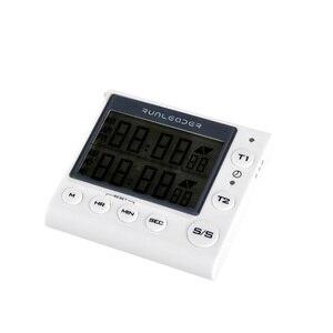 Image 2 - Timer de cozinha Temporizador de Contagem Regressiva Digital 2 Canal LED Piscando para o Laboratório Eletrônico Lição de Casa Cozinha Cozinhar Exercício Gym Workout