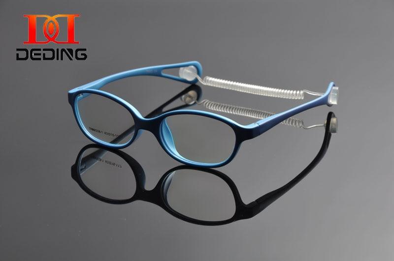 Ochelari pentru copii DEDING Ochelari cu dimensiunea cordonului 43, cadru de ochelari de culoare cu șnur de primăvară, ochelari flexibili pentru fete pentru băieți DD1066