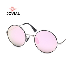 Retro Round Sunglasses Women Brand Designer High Quality Vintage Polarized Sun Glasses Metal Frame Eyeglasses Shades UV400 #1093