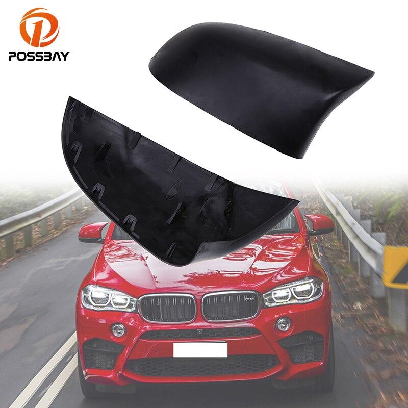 POSSBAY 1 paire de couverture de rétroviseur de voiture pour BMW X3 SUV F25 2011-2017 ABS noir mat pièces de protection de miroir Automobiles