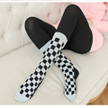 NEW Girl Women Tights False  Stocking Pantyhose Fashion fall and winter plaid Tights black white Tights  Clothing accessory
