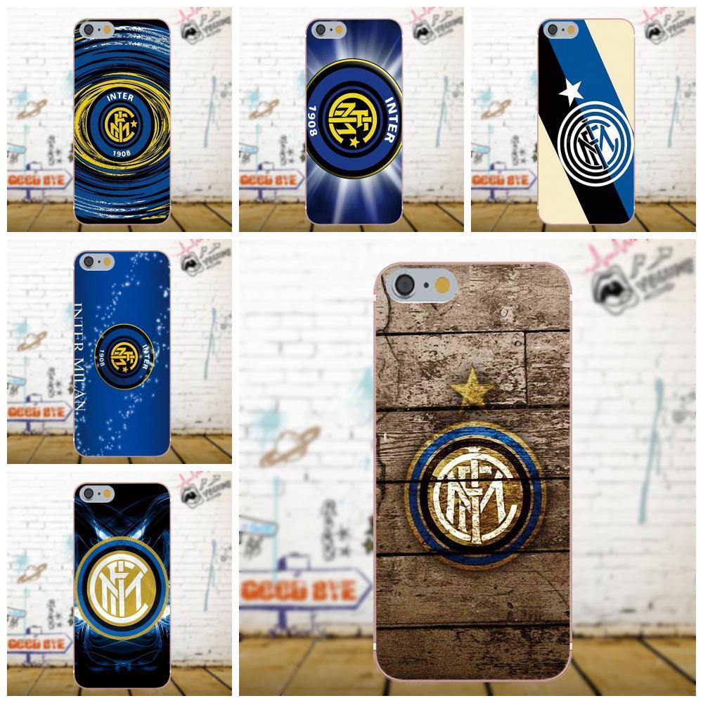 Soft TPU Cool Best For Xiaomi Redmi 5 4A 3 3S Pro Mi4 Mi4i Mi5 Mi5S Mi Max Mix 2 Note 3 4 Plus Inter Milan Football Club Logo